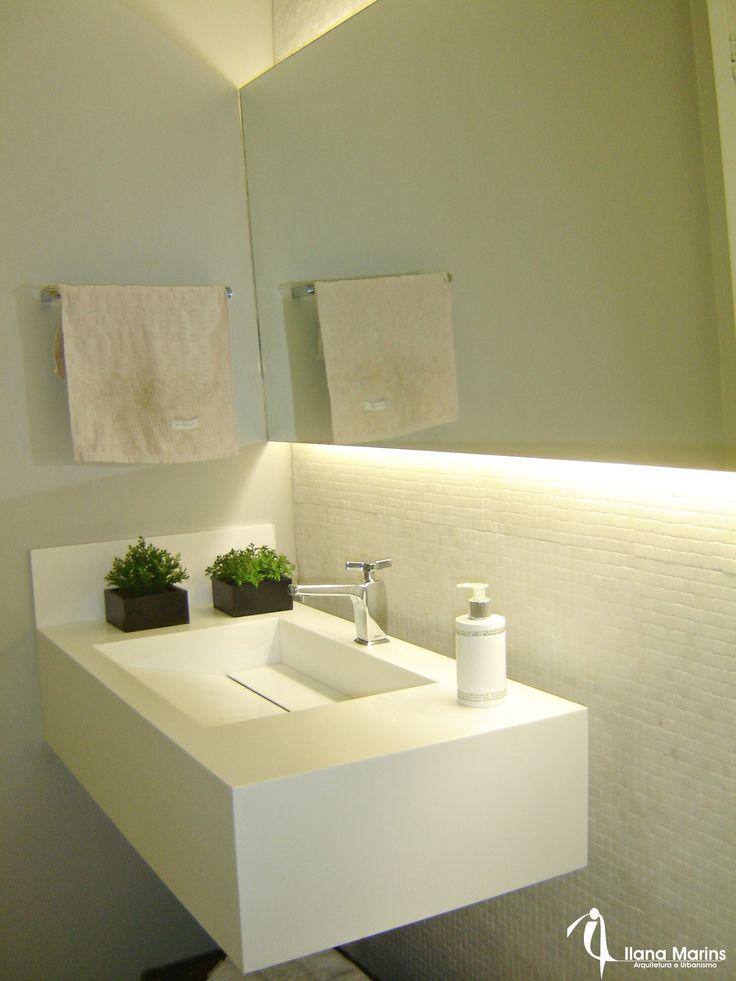 Banheiros e lavabos chiques e aconchegantes by Ilana ...