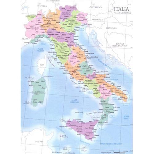 CARTINE GEOGRAFICHE 21x29.7 ITALIA POLITICA FISICA 09343 Carta geografica ITALIA  Fisica e Politica Formato A4 Per scuole e uffici pubblici