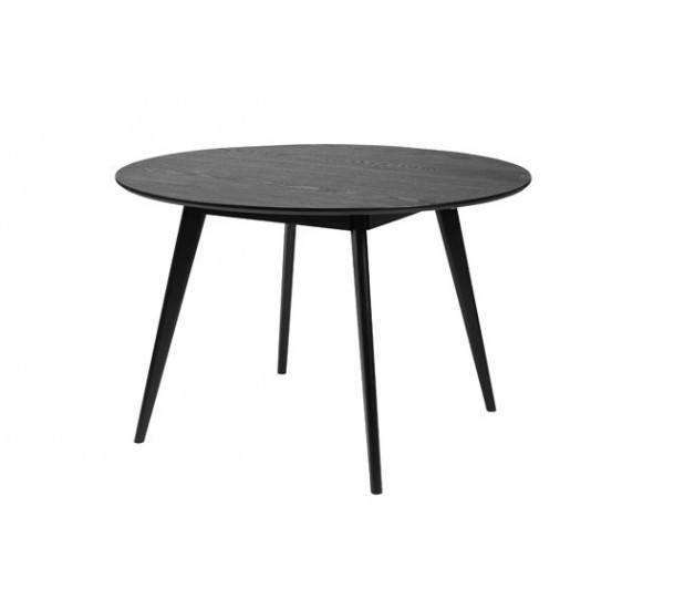 Bello Spisebord - Rundt sortbejdset bord - 115 cm