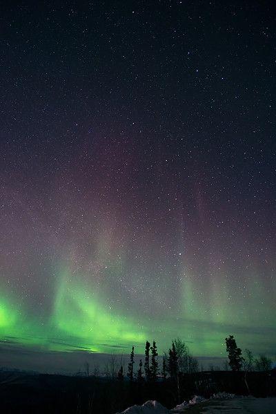 - northern lights - priska wettstein photography #MidnightDome #DawsonCity