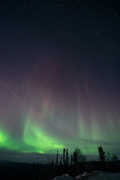 - northern lights - priska wettstein photography #MidnightDome #DawsonCity