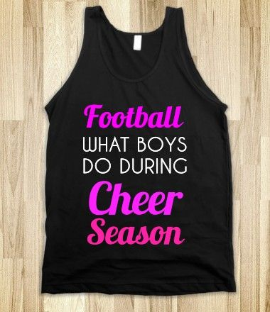 football what boys do during cheer season