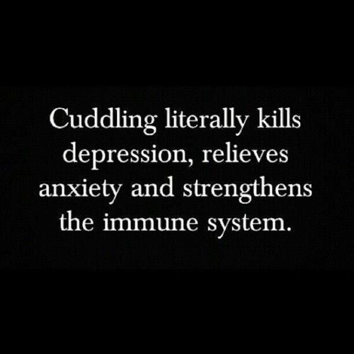 does it matter who you are cuddling? I mean, I'm talkin' about cats here. Does it have the same effect if you are cuddling cats???