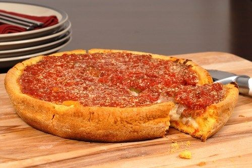 Chicago - style stuffed pizza