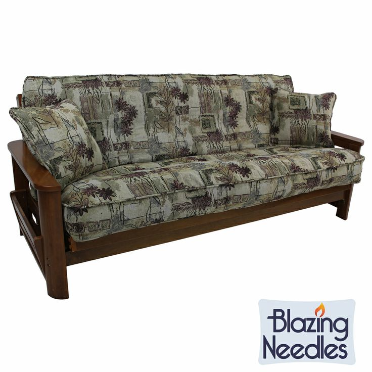 Blazing Needles Floral Collection 3-piece Futon Cover Set   Overstock.com Shopping - The Best Deals on Traditional Futon Covers