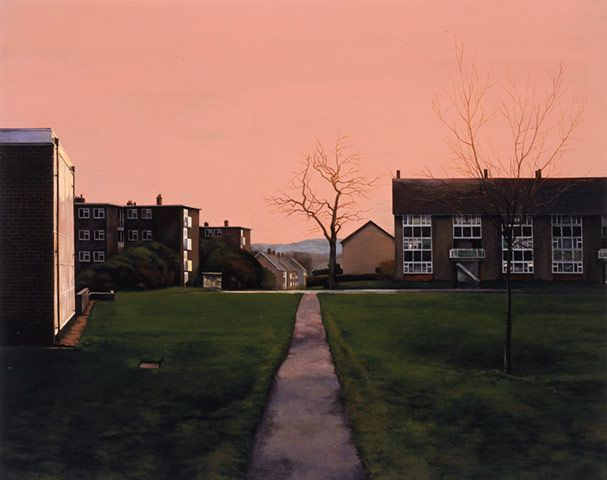 George Shaw, the man who should have won the Turner Prize. Melodic paintings which chime with the state of the nation today - well good!