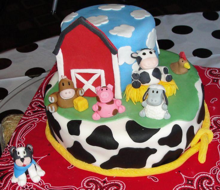 farm cakes ideas for boys | Serendipity Cakes: Farm Animal Baby Shower