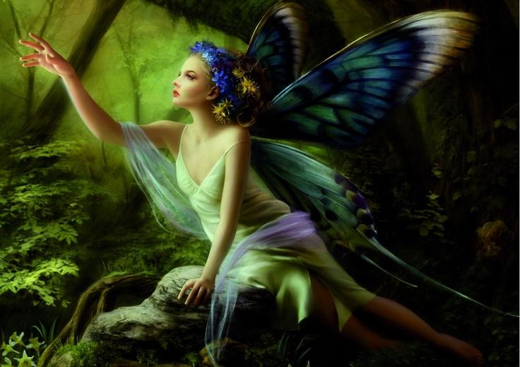 .Fantasy, Angels Art, Magic, Butterflies, Art Flower, Faeries, Fairies Art, Flower Girls, Elves