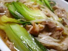 豚肉と青梗菜ともやしの中華炒め煮の画像