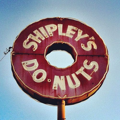 DO•NUTS -- Shipley Donuts' vintage neon sign in Houston.