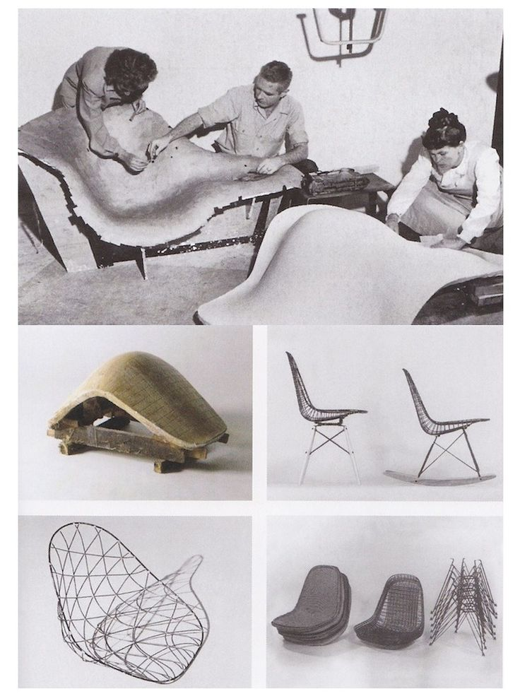 Charles and Ray Eames working on Eames chairs. #MomentumMobiles