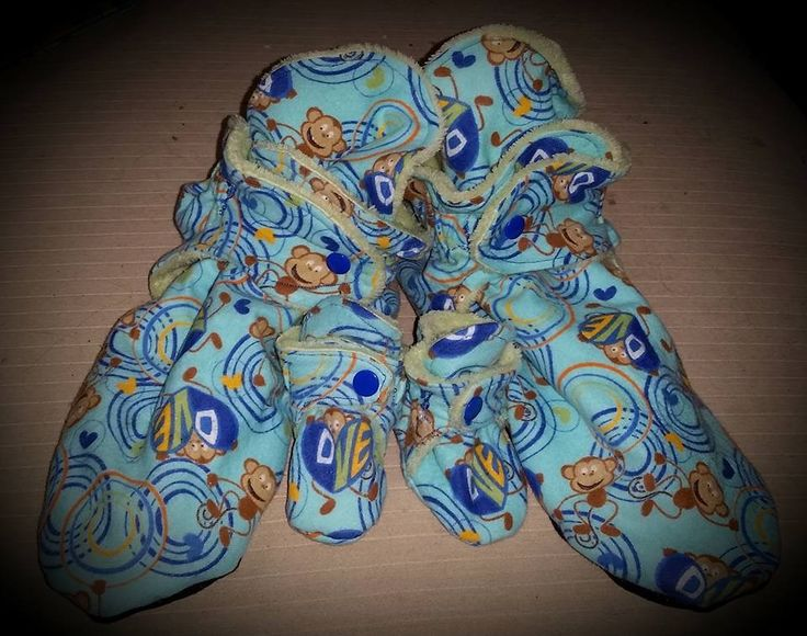 Max and Meena's Banana Booties (size 12 adult / size 1 infant)