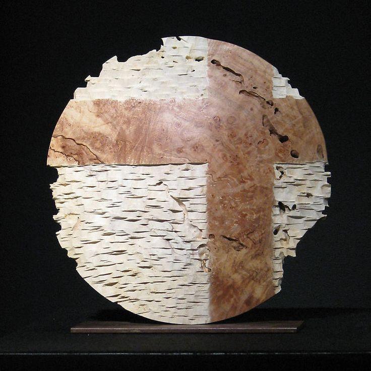 "*Wood Sculpture - ""Small Cross Roads"" by Jack Slentz (Maple Burl)"