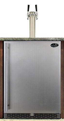 Beer Meister dual tower with stainless door built-in kegerator – Premium Series