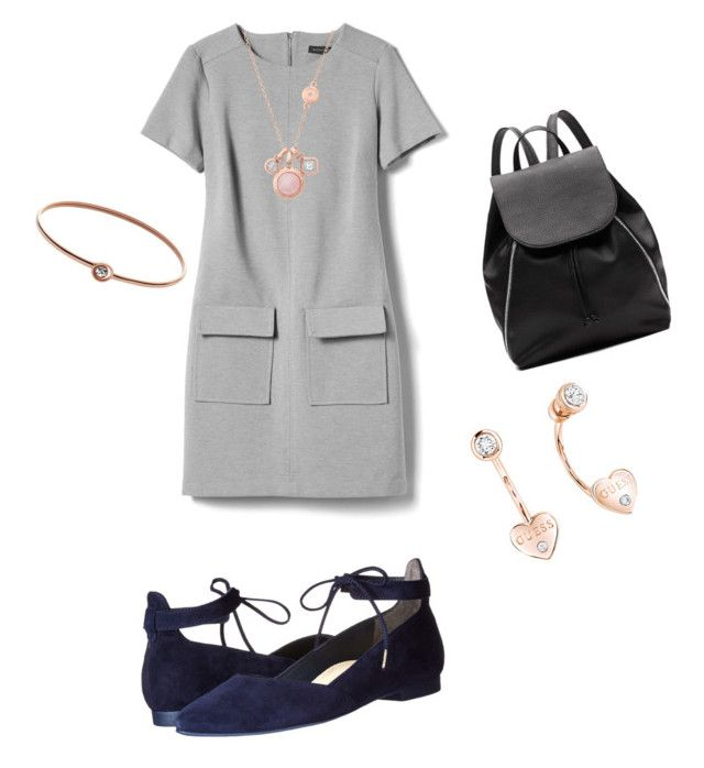"""Untitled #3"" by madalina-diaconu on Polyvore featuring Banana Republic, Paul Green, Witchery, FOSSIL, GUESS and Michael Kors"