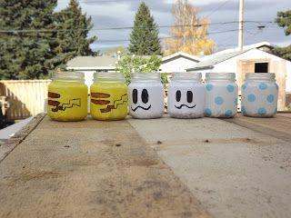 Niks & Naks: Baby jar candle holders