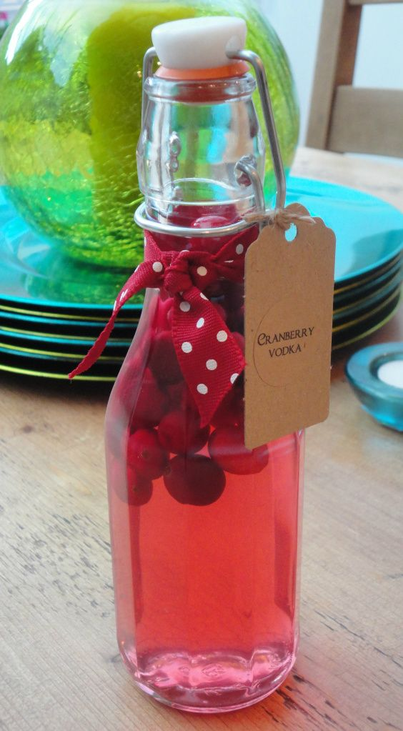 cranberry vodka!! think my ladies will love these!