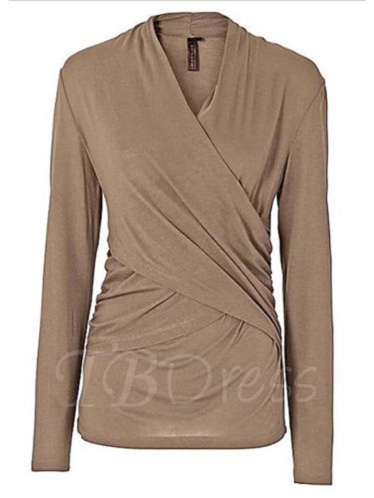#TBDress - #TBDress Plain Slim Womens T-shirt - AdoreWe.com