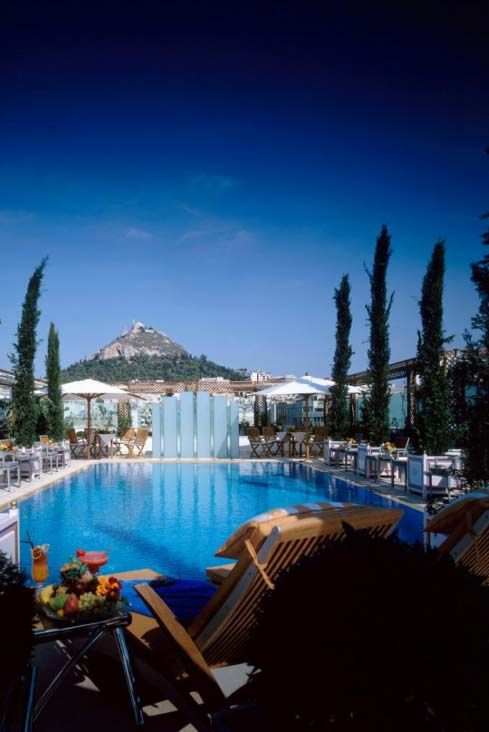 """At the rooftop of""""Grande Bretagne"""" Hotel in Syntagma square"""