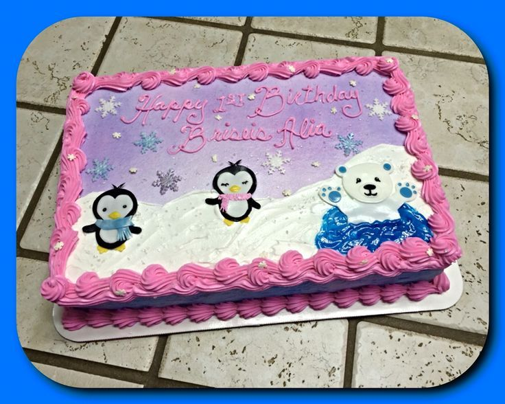 Pinguine mit Eisbärkuchen :) – The Great Cakery – #Cakery # Eisbärkuchen #G …   – Blechkuchen