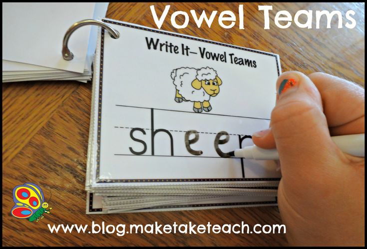 Write-It Phonics Cards for Vowel Teams. Laminate and use over and over again. Great for independent centers.