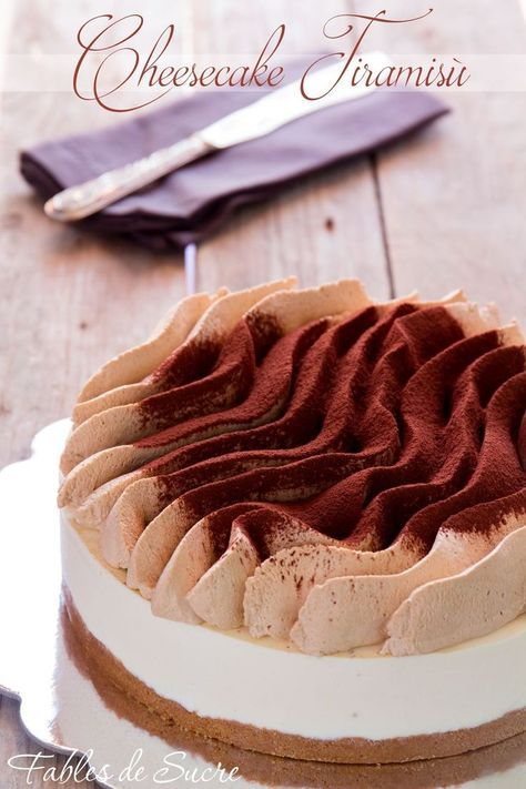Tiramisu Cheesecake; I love the simple yet effective decoration on top.