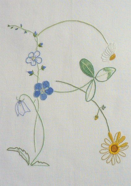 Field flowers alphabet - R — French Needlework Kits, Cross Stitch, Embroidery, Sophie Digard — The French Needle