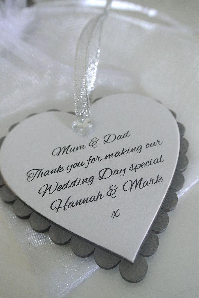 Wedding Thank You Mum & Dad