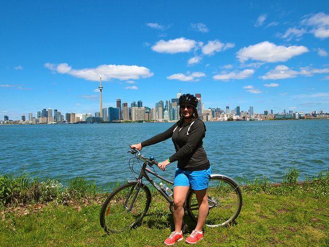 @Amanda Snelson Williams on a Toronto Island tour
