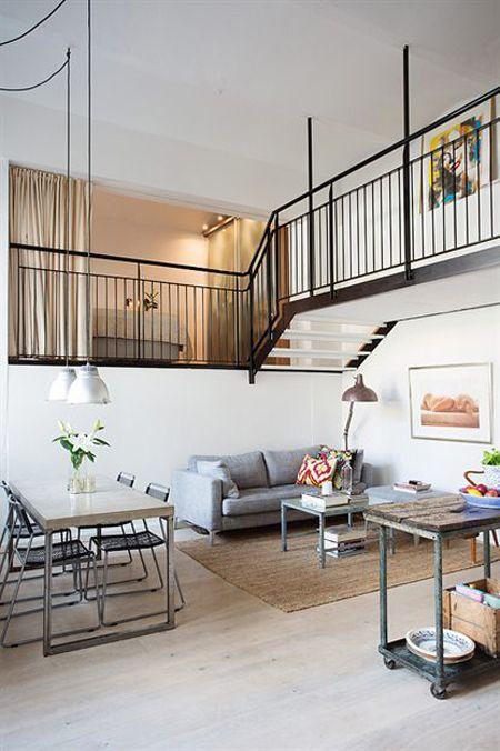 28 best images about escaleras on pinterest industrial for Decoracion pisos pequenos