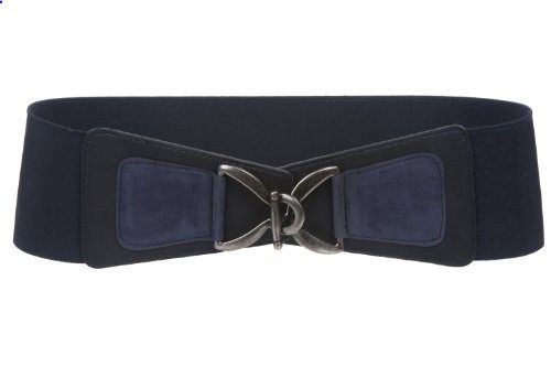 Women's 3 (75 mm) Wide High Waist Fashion Stretch Belt Size: L/XL 34  40 Color: Navy. Go to the website to read more description.