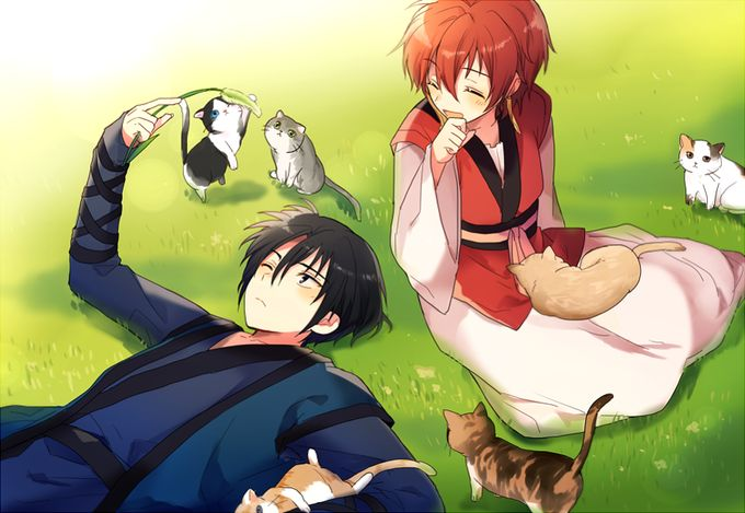 Akatsuki no Yona Hak and Yona and Kitties