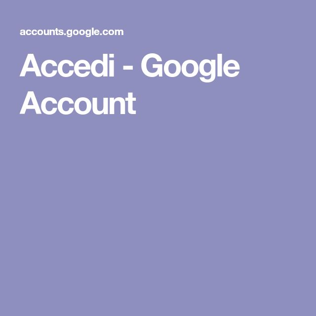 Accedi - Google Account