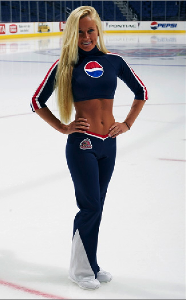 Blue Jacket Ice Girl | Blue Jackets | Pinterest | Jackets Ice and