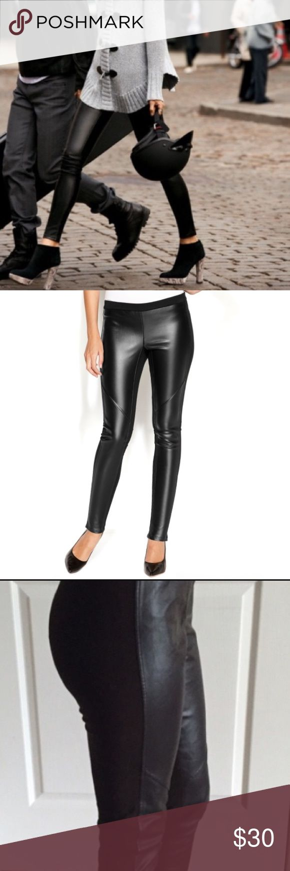 Michael Kors leggings Front half is leather/back half is stretchy material. Very stylish and comfortable. Lightly worn. Michael Kors Pants Leggings