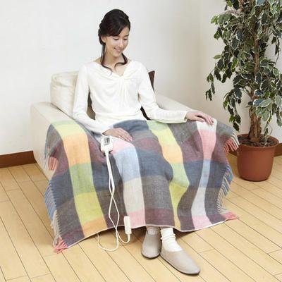 こういうの探してた!NEW おしゃれな膝かけ☆電気ひざかけ毛布 ... モデル2