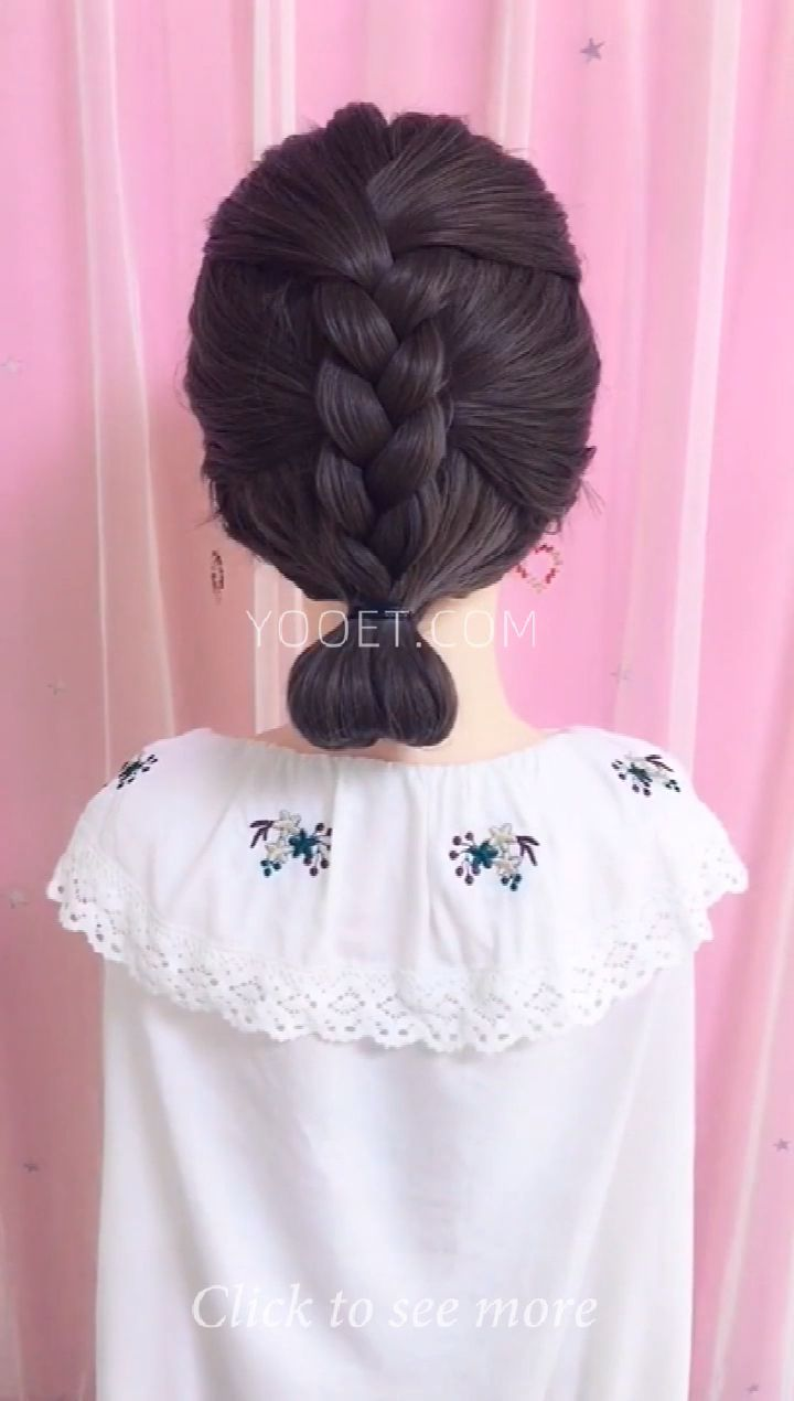 Short-haired braids hairstyle idea