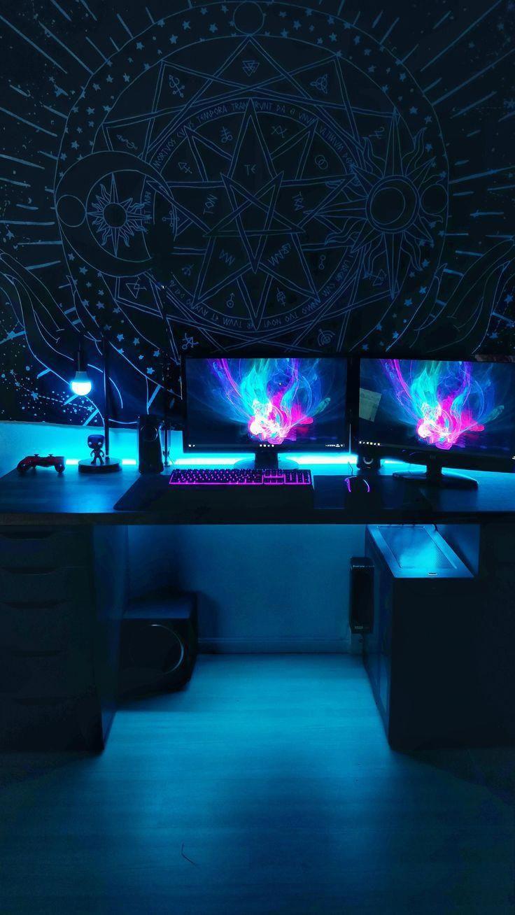 Idee Von Mlambo2 Auf Gamer Sachen In 2020 Spielzimmer Design Gamer Zimmer Zocker Zimmer