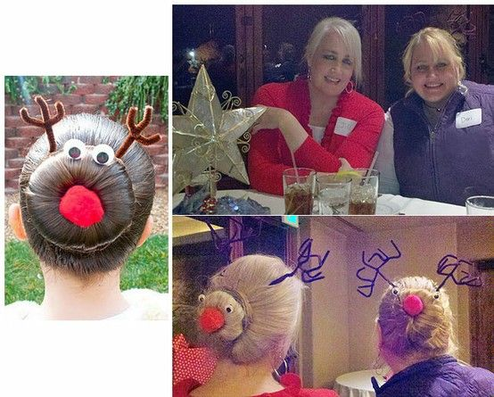 ..while all of the ideas on this site look nice, it's the Christmas hair style that really caught my eye.
