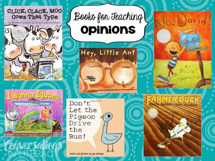 Have I Got An Opinion For You!  Books for teaching opinion writing