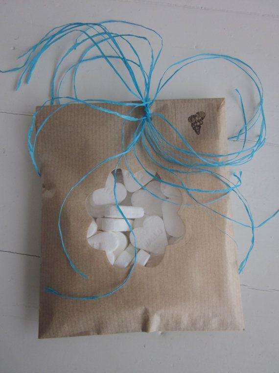 Wedding favor bags --- Kraft papieren zakjes met een bloem venster set van 20 van Natron kraft/ouderwetse marktzakjes --- Voor je bruiloft of verjaardagsfeest