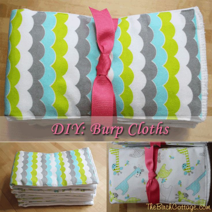 Easy To Sew Diy Burp Cloth Tutorial Is Made From Baby Soft