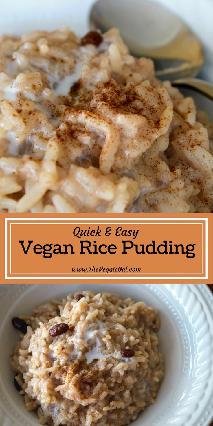 Vegan Rice Pudding, oil free, vegan, gluten free, wfpb and YUMMY!
