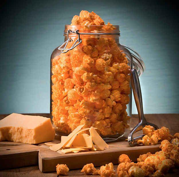 9. Cheesy Popcorn | 19 Creative Ways To Flavor Popcorn
