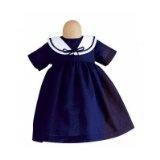 Käthe Kruse 33763 - Bekleidung 39-43 cm Marine Kleid