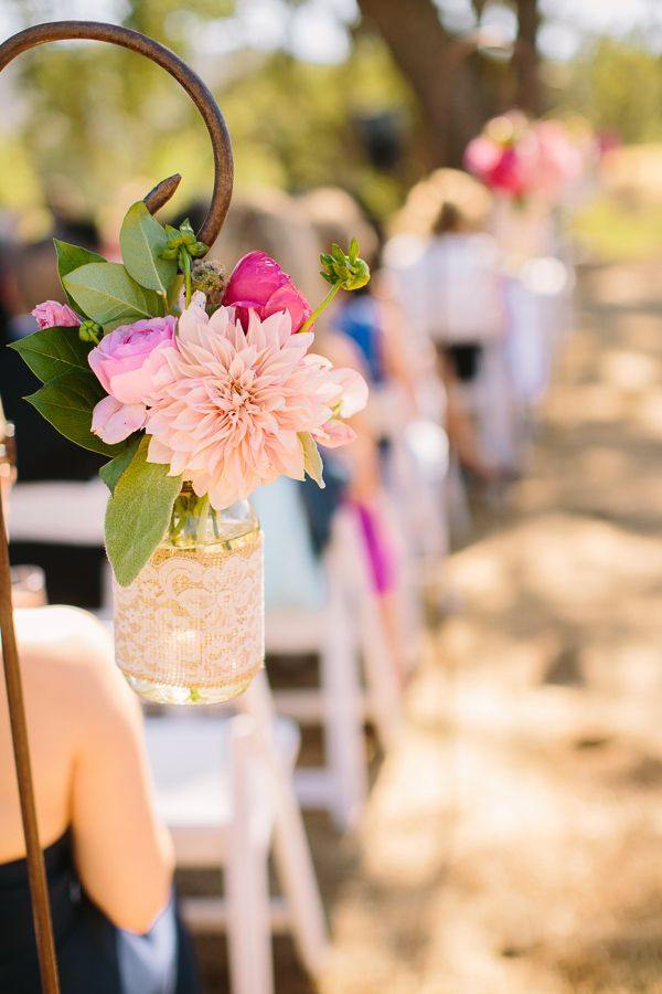 ceremony aisle wedding decor http://www.weddingchicks.com/2013/09/06/spanish-oaks-ranch/