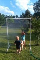 DIY sprinkler out of pvc pipe: Backyard Fun, Kids Stuff, Diy'S, Diy Mister, For Kids, Fun Ideas, Pvc Pipes, Summer Fun, Diy Sprinkler
