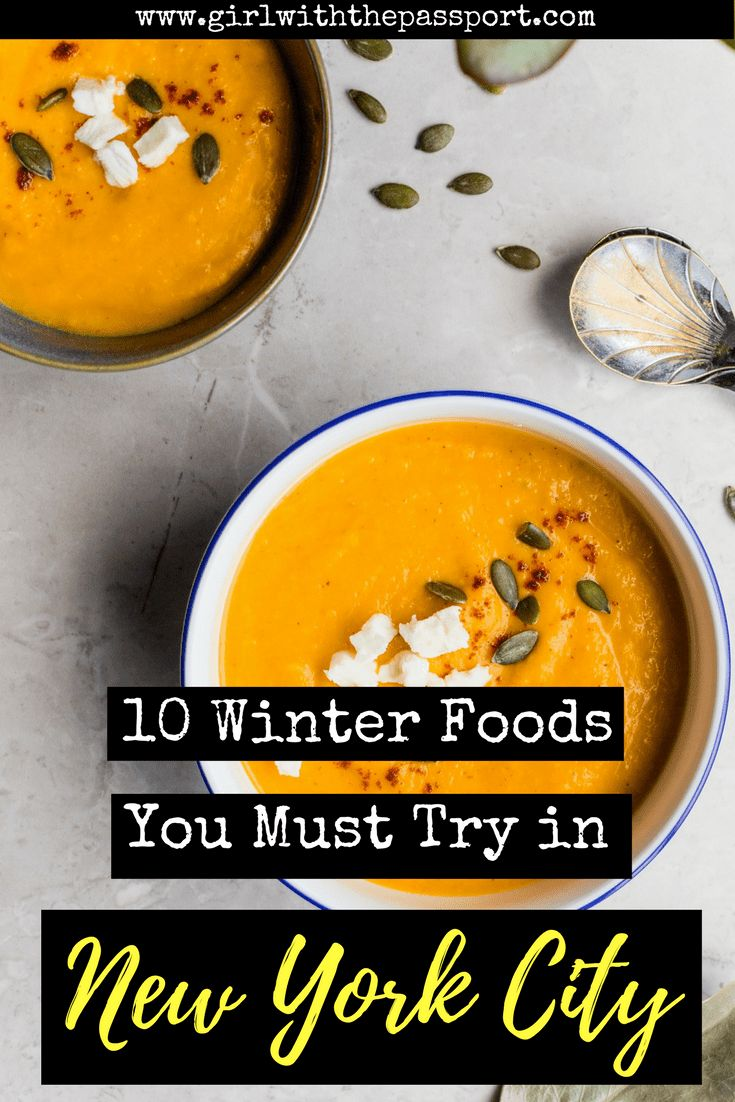 Visting #NewYorkCity this #winter? Then check out this #foodie #bucketlist. This #locals #guide shows you al the food that you need to try when you plan a trip to New York during the holiday season. #travel #untedstates #newyork #foodietravel #wanderlust