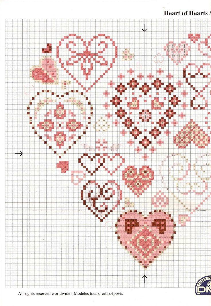 Schema punto croce Cuore 40