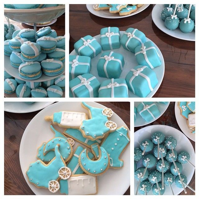 Wanted to say a big thank you for these gorgeous treats. They were absolutely delicious and a big success. Macarons by @by_josephine  mini present cakes, cake pops and biscuits made by @cakesdalcuore . Check them out !!! #letsbefrancsealofapproval #tiffanyandco #babyshower #cake #soyum #cakepops #cakeideas #canttalkeating